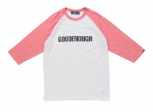 GOODENOUGH IVY-RAGLAN HEATHER 3:4 SLV TEE - White : Red