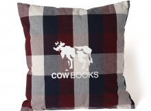 COW BOOKS-Reading Cushion - Red × Navy