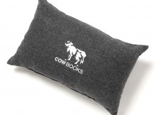 COW BOOKS-Reading Cushion Large - Gray