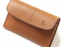 LEATHER & SILVER MOTO-被せ Card Case Combi CA2 - Brown