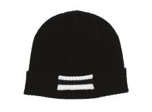 Mr.GENTLEMAN-LINE KNIT CAP - Black