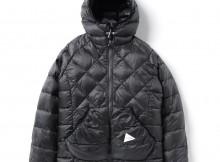 and wander-diamond stitch down jacket - Charcoal