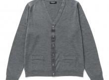 Meticulous Knitwear-Woodstock Cardigan - Solid : Reversed - Grey