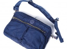 Porter Classic-SUPER NYLON SHOULDER BAG M - Blue