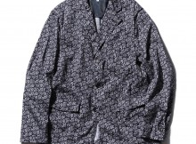 ENGINEERED GARMENTS-Baker Jacket - Cotton Paisley - Dk.Navy