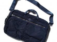 Porter Classic-SUPER NYLON 3WAY BRIFE CASE L - Blue