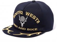 South2 West8 - Apollo Cap - Deer Skull & Horn - Navy