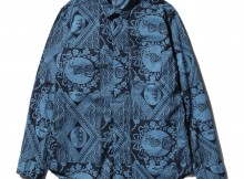 ENGINEERED GARMENTS-Short Collar Shirt - Ethnic Print - Blue : Navy