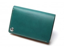 LEATHER & SILVER MOTO-2つ折り Wallet W2 - Blue