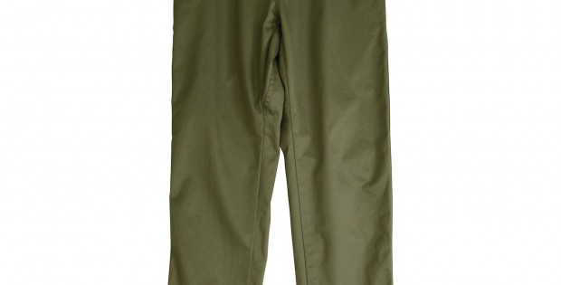 UNIVERSAL PRODUCTS-ORIGINAL TAPERED CHINO TROUSERS - Olive
