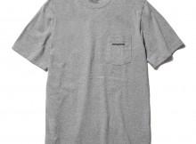 patagonia-Ms P-6 Logo Cotton Pocket T-Shirt - Gravel Heather