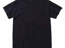 AURALEE-SEAMLESS POCKET TEE - Navy