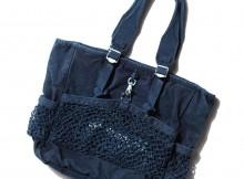 Porter Classic-CANVAS NET TOTE BAG - Blue