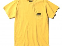 STUSSY-Classic Roots Pigment Dye Pocket Tee - Faded Yellow