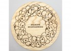 Anarcho Cups 035 - Wood Lid (for Plate) - Beige