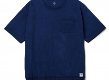 BEDWIN-S:S C-NECK BIG POCKET T 「JACK」 - Indigo