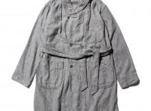 ENGINEERED GARMENTS-Robe - Solid Flannel - H.Grey