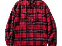 ENGINEERED GARMENTS-Work Shirt - Plaid Flannel - Red : Black
