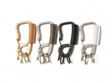 hobo-Brass Carabiner with Cow Leather