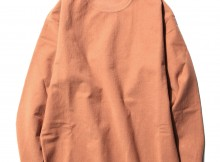 AURALEE-SUPER MILLED SWEAT CUT-OFF P:O - Coral Pink