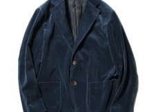 AURALEE-WASHED CORDUROY JACKET - Dark Blue