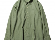 AURALEE-WASHED FINX TWILL BIG SHIRTS - Olive
