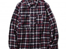 ENGINEERED GARMENTS-Work Shirt - Plaid Flannel - Navy : White
