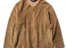 Needles Sport Wear - Zipped Crew Cardigan - Pe:C Curl - Camel