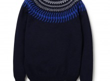 BEDWIN-C-NECK NORDIC SWEATER 「DANNY」 - Navy