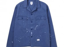 BEDWIN-L:S MILITARY SHIRT JACKET 「CLIFF」 - Blue