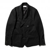 NEON SIGN-DOUBLE BREASTED JACKET GABARDINE - Black