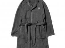 Porter Classic-FLEECE GOWN COAT - Gray