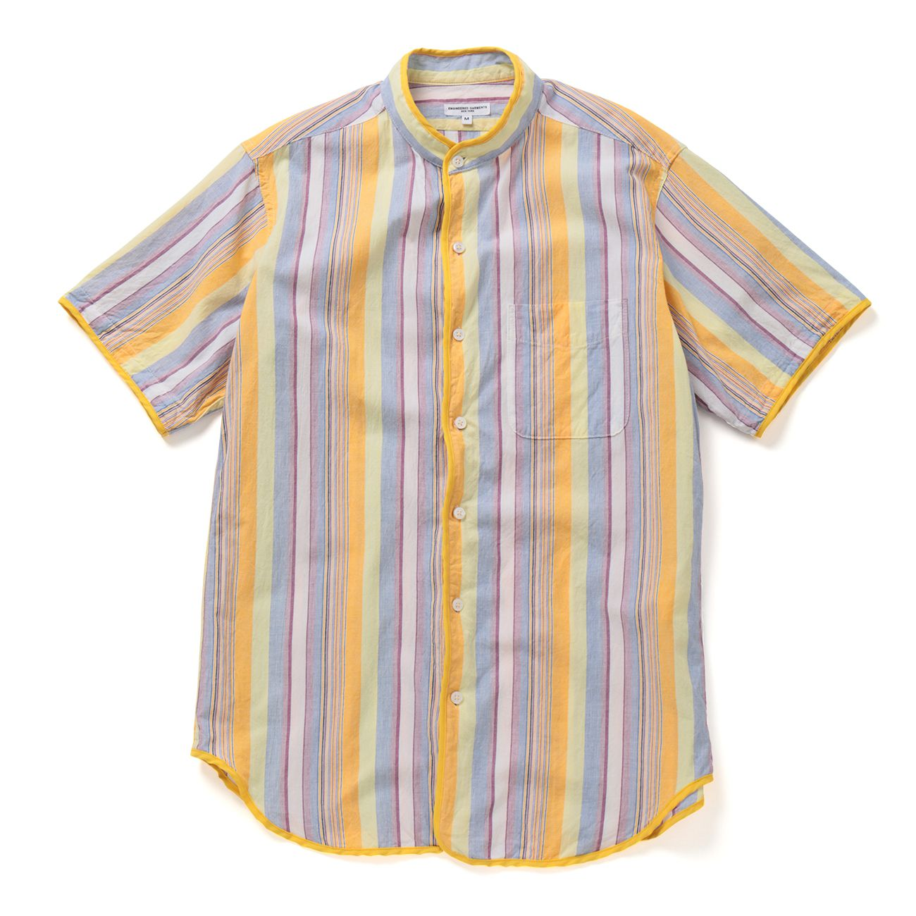 ENGINEERED GARMENTS-Copley Shirt - Multi Color St. - Yellow
