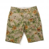 ENGINEERED GARMENTS-Ghurka Short - C:L Froral Print - Khaki