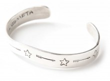METAPHORE-ALOIS WAGNER STAR&ARROW BANGLE - Silver