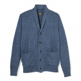 Stevenson Overall Co.-Indigo Shawl Collar Cardigan - SC - Faded Indigo