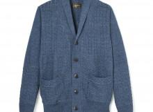 Stevenson Overall Co.-Indigo Shawl Collar Cardigan - SC - Faded Indigo