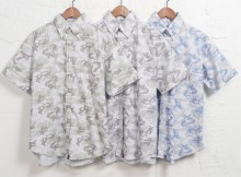 GOODENOUGH IVY-CAMO STRIPE SWITCH S:S B.D SHIRT