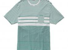 FLISTFIA-Pocket T-Shirt - White × Cobalt Green
