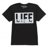 NuGgETS-NuGgETEE 「LIFE」 S:S-Tee - Black
