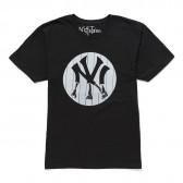 NuGgETS-NuGgETEE 「N.Y」 S:S-Tee - Black