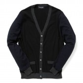 Meticulous Knitwear-Woodstock Cardigan - Tri-Combo - Blk:Nvy:Ccl