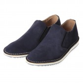 Nepco Footwear - Ripple Sole Suede Slip-On - Navy