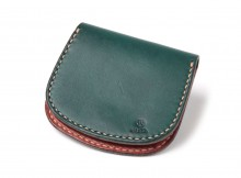 LEATHER & SILVER MOTO-Coin Case C1 - Blue