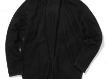 FLISTFIA-Indigo Piping Cardigan - Black Indigo
