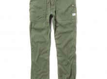 SASSAFRAS-FALL LEAF SPRAYER PANTS - Nylon Chino Cloth - Olive