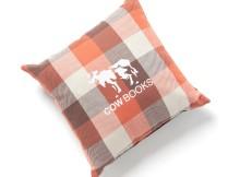 COW BOOKS-Reading Cushion - Orange × Black
