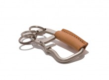 hobo-Brass Carabiner with Shade Leather