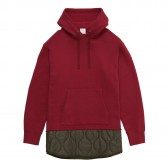 Mr.GENTLEMAN-QUILTED MIX PULLOVER SWEAT PARKA - Red