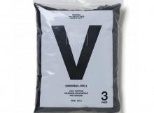 BEDWIN & THE UNDERTONES-S:S V-NECK T 3PACK - Black